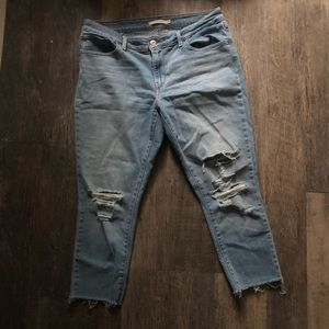 Levi's   711 Cropped Skinny Ankle Jeans